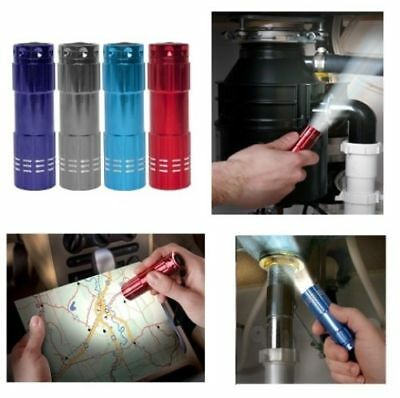 ULTRA BRIGHT 9 LED POWERFUL SMALL CAMPING TORCH FLASH LIGHT LAMP LIGHTS Random! 4
