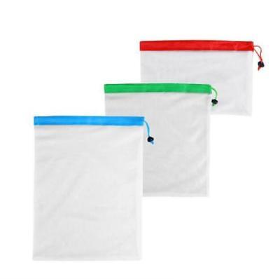 15x Eco Friendly Reusable Mesh Produce Bags Superior Double-Stitched Strength AU 6