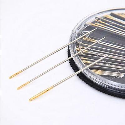 Assorted Hand Sewing NEEDLES -  Embroidery Mending Craft Quilt Case Sew 30pcs UK 5