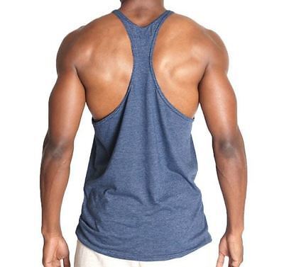 8f608396a3871e ... Mens Workout Bodybuilding Wear Triblend Stringer Tank Top Gym Clothing  Soft Thin 2