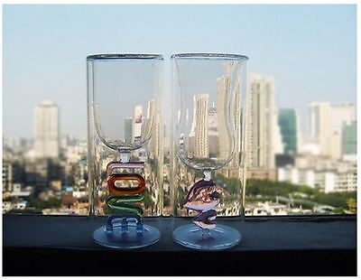 Love Heat Drinking Glass Set for Valentines Wedding Anniversary Occasions Gift 8