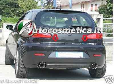 Alfa Romeo 147 - Cornice acciaio cromo barra profilo cromata portabagagli 4