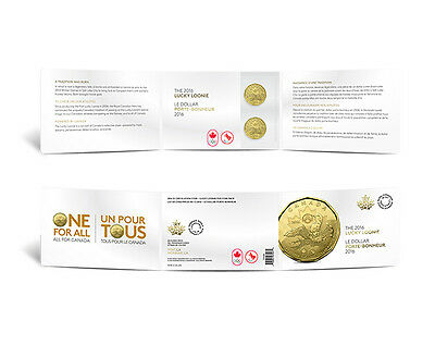 2016 Canada $1 Lucky Loonie 5-pack Olympic Dollar Circulation original Mint pack 4