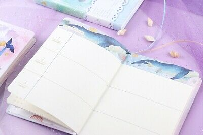 """""""Universe Whale"""" 1pc Cute Monthly Daily Planner Agenda Diary Journal Free Note 7"""