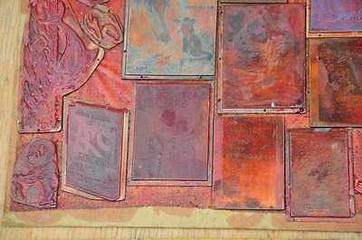 Konvolut Klischees Druckplatten original Druckerei letterpress printer's plates 5