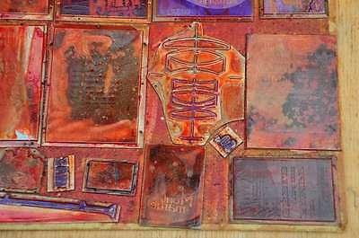 Konvolut Klischees Druckplatten Druckerei Drucker Bleisatz letterpress plates 4