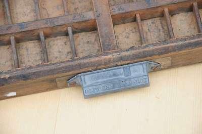 Setzkasten 65x44cm von 1920/30 Linienkasten Vintage shabby chic alt letterpress 3