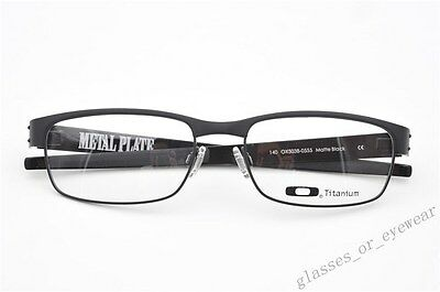 62f120ac57b ... Eyeglass Frames-Oakley METAL PLATE OX5038-0555 Matte Black 55mm  Titanium Glasses 11