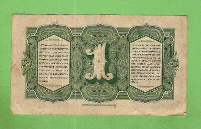 1943  Netherlands  Indies 1 Gulden  Banknote  Az302621