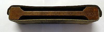 Rasiermesser Schleifband/Streichriemen aus Leder und Holz von 1912 4