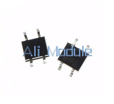 100Pcs IC MB6S 0.5A 600V Miniature Mini SMD Bridge Rectifier new 4