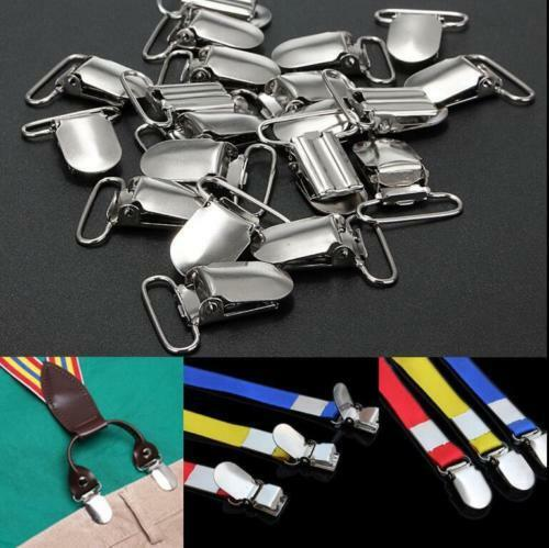 20pcs 1.5 inches Insert Pacifier Metal Holder Suspender Clips Mitten Craft New
