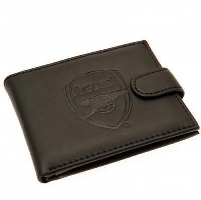 Arsenal F.C. RFID Anti Fraud Wallet ( Real Leather ) Debossed Crest 3