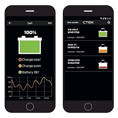 CTEK Battery Sense iPhone Andriod App Bluetooth 12v Car Battery Monitor System 2
