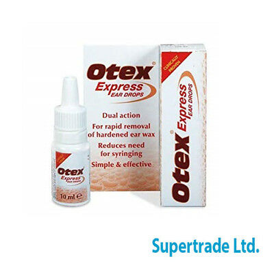 Otex Express Ear Drops Dual Action Treat Hardened Ear Wax - 10ml 4