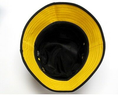 e323162fe ... Pittsburgh Steelers Black Bucket Golf Fishing Sun Hat Cap Embroidered  Text Logo 2