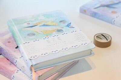 """""""Universe Whale"""" 1pc Cute Monthly Daily Planner Agenda Diary Journal Free Note 8"""