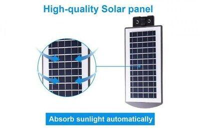 Lampione Stradale Con Telecomando Led 60 W Pannello Solare Fotovoltaico Jd1960 3