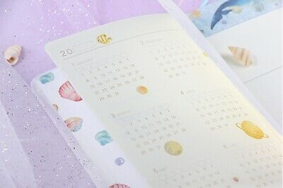 """""""Universe Whale"""" 1pc Cute Monthly Daily Planner Agenda Diary Journal Free Note 10"""