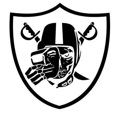 Oakland Raiders Skull Logo Window Door Car Truck SUV Vinyl Sticker Decal V02 3