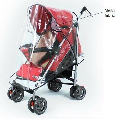 Quality Universal Buggy Pushchair Stroller Pram Transparent Rain Cover Vent Baby 6