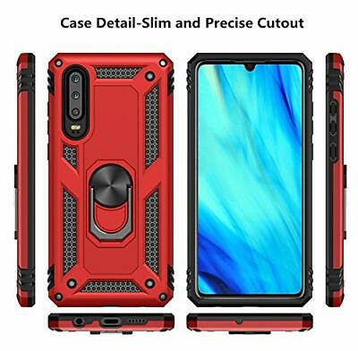 For Huawei P30 Lite P30 Pro Heavy Duty Rugged Rotating Magnetic Ring Cover Case 8