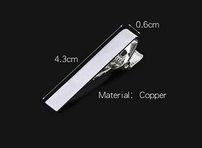 Mens Gold Silver Black short Slim Tie Pin Clip Clasp Bar office Christmas dad 3