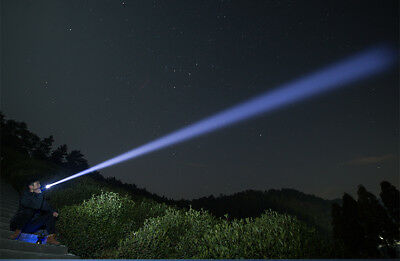 500000 Lumens Zoomable XHP70 LED USB Rechargeable Flashlight Torch Super Bright 12