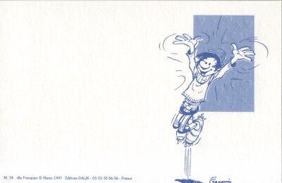 Carte postale Gaston Lagaffe Meilleurs Voeux ! Tendresse, amitié, et mille affec 2