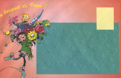 Carte postale Gaston Lagaffe Meilleurs Voeux ! Tendresse, amitié, et mille affec 3