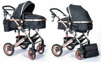 Kinderwagen 3in1 Kombi Komplettset Buggy Babywanne Babyschale Autositz Alu NEU 8 2