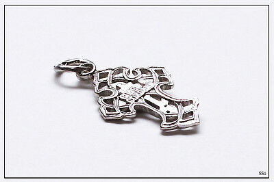 Russian Orthodox Silver Gold Cross For Baby Christening Pendant JC  (SS1) 4