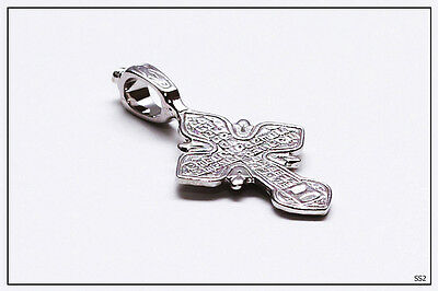 Russian Orthodox Silver Cross For Baby Christening Pendant JC  (SS3) 4