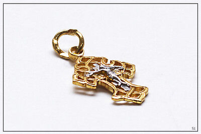 Russian Orthodox Silver Gold Cross For Baby Christening Pendant JC  (S1) 3