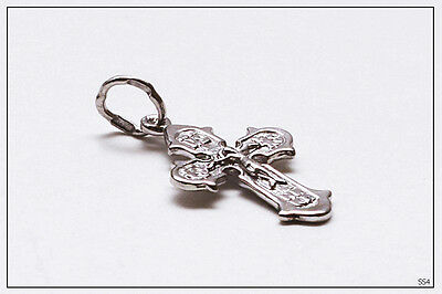 Russian Orthodox Silver Cross For Baby Christening Pendant JC  (SS4) 3