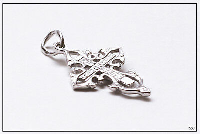 Russian Orthodox Silver Gold Cross For Baby Christening Pendant JC  (SS2) 4
