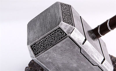 1:1 THE Avengers Full Solid Thor Hammer /Stand Base Replica Cosplay Prop Mjolnir 5