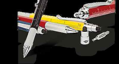 WEDO Touch Pen MULTI TOOL grau Kugelschreiber m Duo-Bit Eingabestift Metall