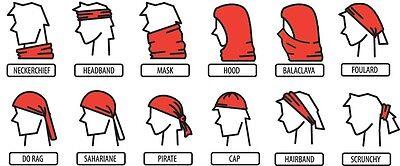 Men Women Biker Scarf Warmer Neck Tube Headband Wrap Bandana Snood Face Mask Cap 2