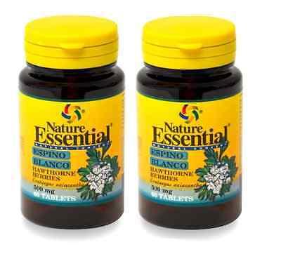 Espino Blanco 500 mg. 2x60 tabletas NATURAL ESSENTIAL