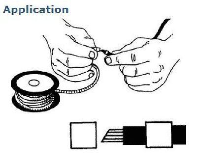 Cable Marker Packs 50pcs CSA 2.5-16mm² Chevron Closed Black//White Letters