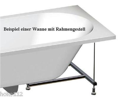 Tellk Badewanne trapezbadewanne triangl 180x120 70 50cm tief mit füßen wandankern