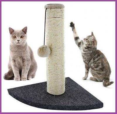 Activity Corner Cat Scratching Post Pole Activity Catnip Play Climbing Sisal UK 3