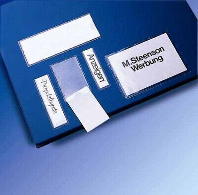 10 Veloflex Visitenkartentaschen Beschriftungsfenster Hüllen selbstklebend