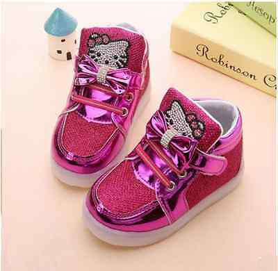 ... 9 Scarpe Bambina Luci Hello Kitty Led Baby Kinder Schuhe Leuchtend Shoes  Lights 6 f414029b722