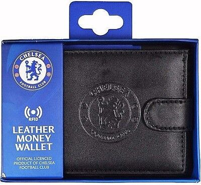Debossed Crest Rfid Real Leather Football Club Sports Boxed Money Wallet Purse 6