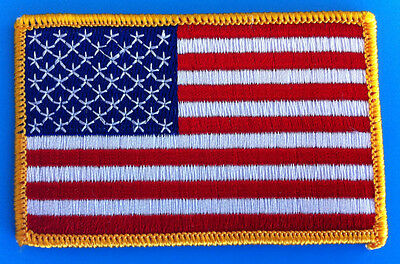 """AMERICAN FLAG & MEXICAN FLAG EMBROIDERED PATCH IRON-ON SEW-ON MEXICO  (3½ x 2¼"""") 6"""