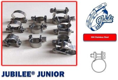 Stainless Steel Jubilee Hose Clip Mini Fuel Line Clamp Diesel Petrol Pipe Clamps 9