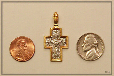 Orthodox Silver Gold Cross Pendant Jc Jesus Christ Crucifix (T115) 5