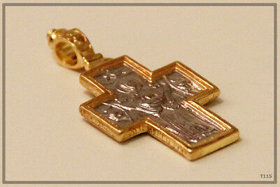 Orthodox Silver Gold Cross Pendant Jc Jesus Christ Crucifix (T115) 3